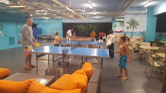 Vistana Beach Club: Fun outdoor area with pool table, chess, ping pong, and other fun games to play if it starts to