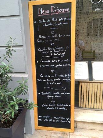 MENU Picture Of Une Cuisine En Ville Bordeaux TripAdvisor - Une cuisine en ville bordeaux