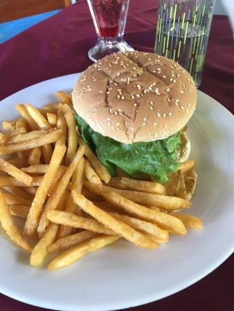 Bahia Azul Hotel: Vegetarian burger