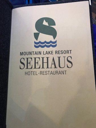 Restaurant Seehaus: Menù