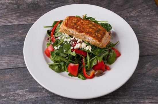 Pita Jungle: Salmon Salad