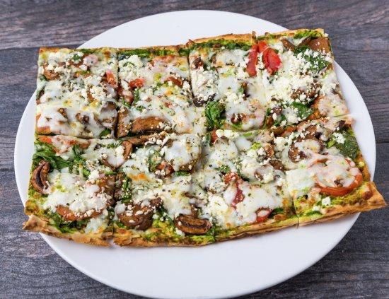 Pita Jungle: Spinach and Pasta Pizza