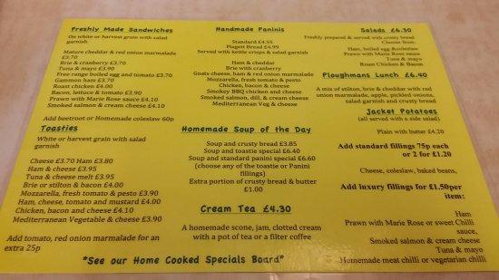 Hatton Locks Cafe: Summer Menu