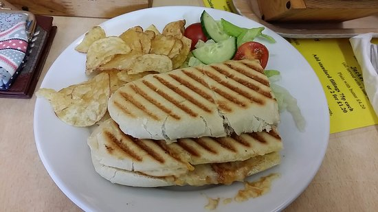 Hatton Locks Cafe: BBQ Chicken and Cheese Panini