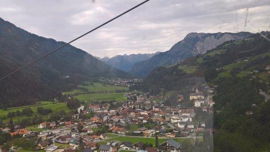 Oetz, Austria: Otztal valley from Acherkogelbahn