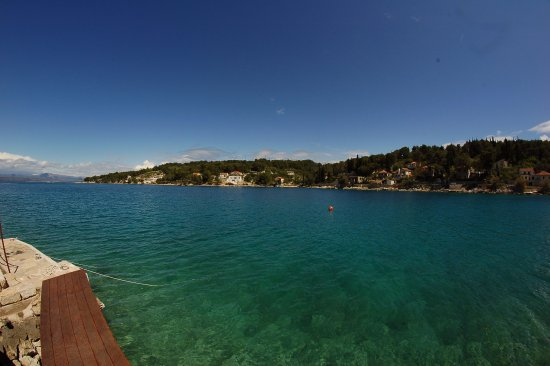 Solta Island, Croatia: Widok z tarasu na zatokę