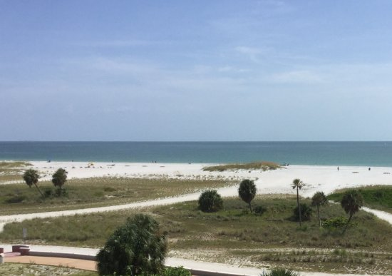 Voyager Beach Club: View from living rooom. All units are 1 bedroom with small kitchen and living room.