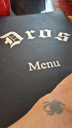 Dros Restaurant and Wine Cellar: ...the menu