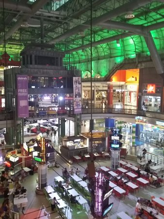 Dros Restaurant and Wine Cellar: ...a view of the entire food court down below