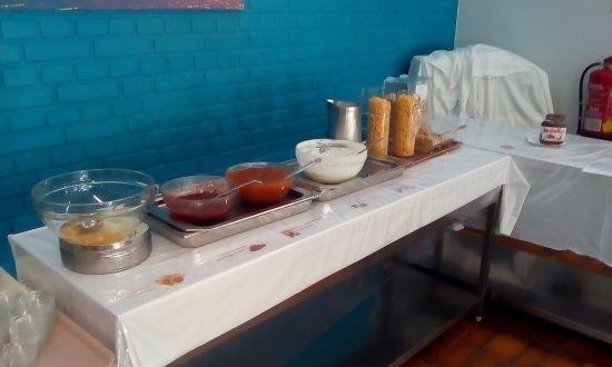 Hostel Hutteldorf: 朝食会場。