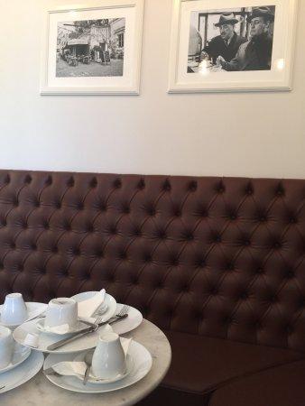 Sala colazioni al quarto piano del Relais Monti Roma
