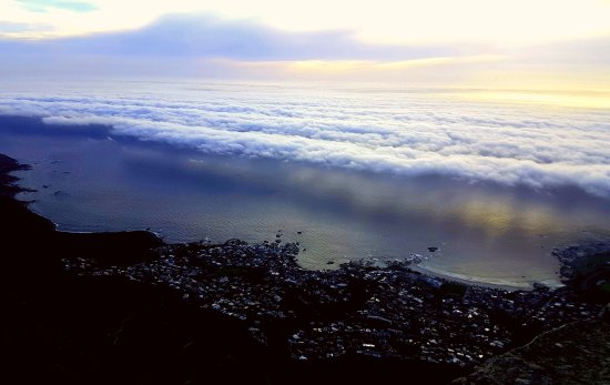 Cape Town, South Africa: Clouds rolling in over Camps Bay!