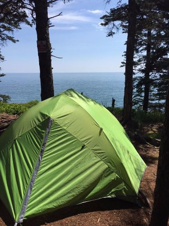 cutler coast public reserved land tent at fairy head