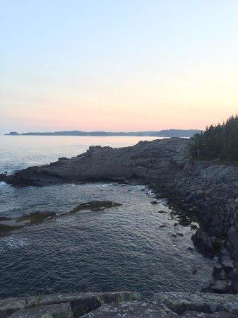 cutler coast public reserved land just after sunset