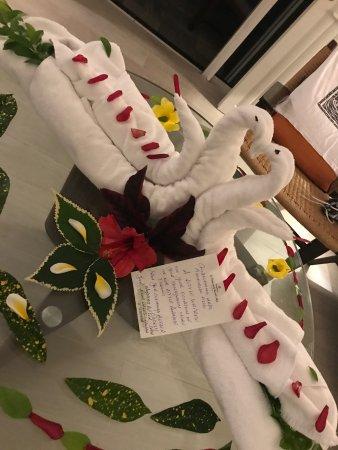 Shangri-La's Le Touessrok Resort & Spa, Mauritius: Decoração especial de lua de mel