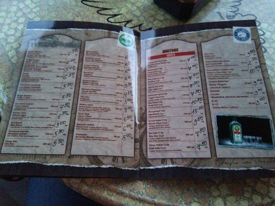 Sammy's Bar: Carta
