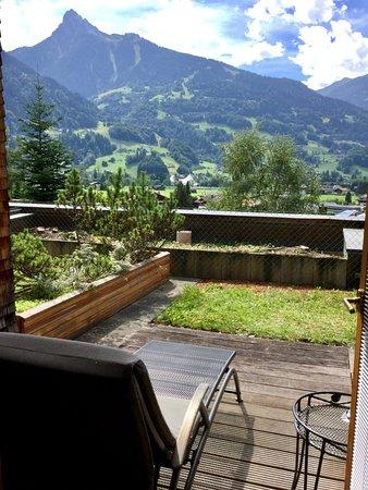 Aktiv & Spa Hotel Alpenrose: Aussicht von der Zimmer-Terrasse auf das Bergpanorama