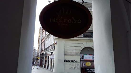 Miod Malina - sign board