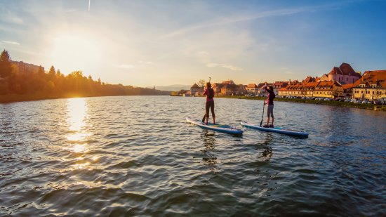 Bananaway: Sunsets and paddle boarding on Drava river. Pure relaxation.