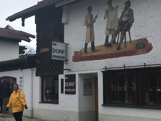 Der DorftFirisseur, Herr Stenger, Oberstdorf, Duitsland