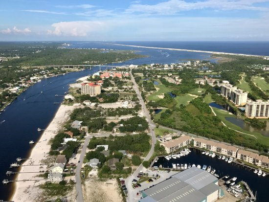 Hang Ten Helicopters: View of the intracoastal heading into Big Lagoon!