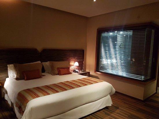Hotel Dreams Araucania: Vista de la cama