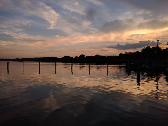 FISCHER Ammersee: Tramonto dal molo di fronte a Fischer