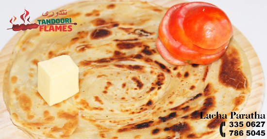 Lacha Paratha is a little bit oily bread. Refined or whole grain flour is mixed with oil and fri