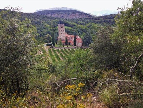 Saint-Michel-de-Cuxa: St Michel vue de la sortie du siphon