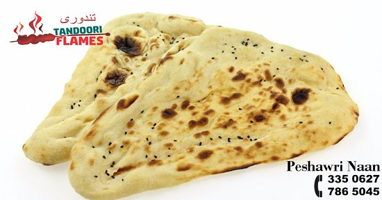 Peshwari Naan is Afghan style Naan. Its made of refined flour and is more fluffy