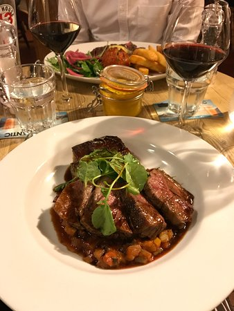 Berkeley Arms: Rump of Lamb, Chorizo & Potato Gratin