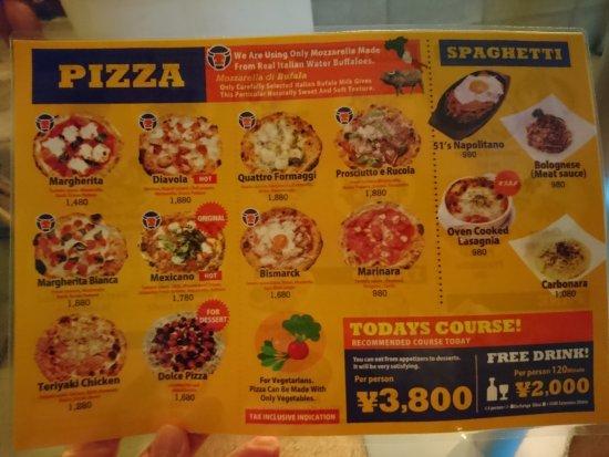 Goichi Pizza: Menu 1