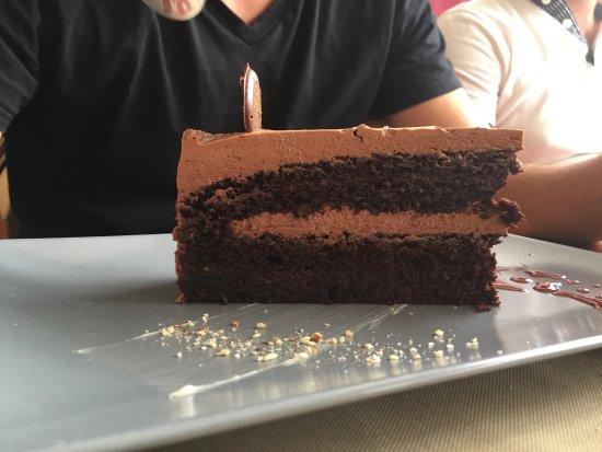 Pet Bunara: Zadar's way et dessert gâteau chocolat/Maraska