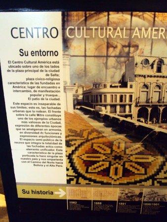 Centro Cultural América : Cartel con información