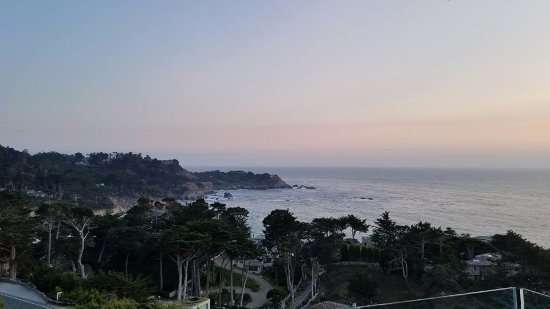 Pacific's Edge: Panoramic ocean view from the outdoor patio