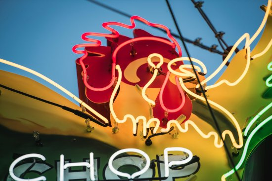 Sai Woo: neon rooster sign resurrected