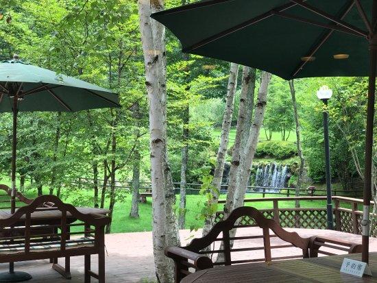 Montagne Restaurant: テラス席