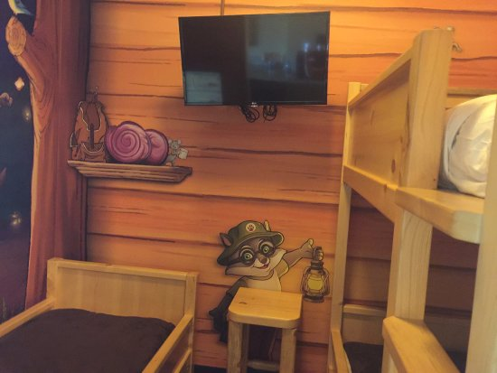 Great Wolf Lodge Southern California / Garden Grove: The kid's portion of the Kid's Cabin Suite