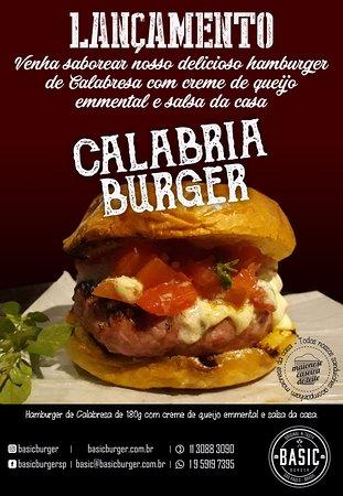 Basic Burger: Lançamento Burger de calabresa