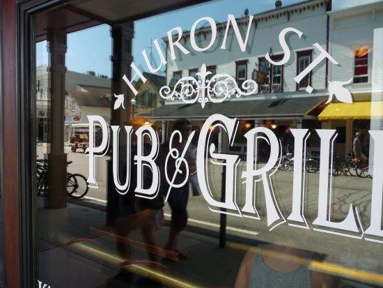 Huron Street Pub & Grill: on the window
