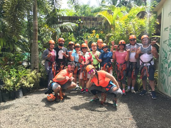 Haiku, Hawái: Jungle Zipline. August 11,2017