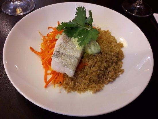 Aubergine & Cie : Cabillaud quinoa