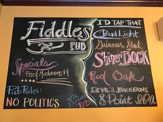 Elkin, NC: Draft List Chalk Board