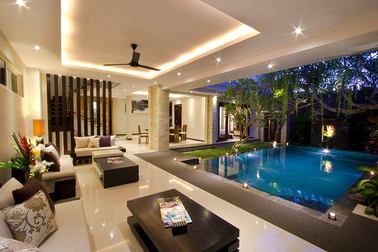 The Amarta Villa: living area view pool