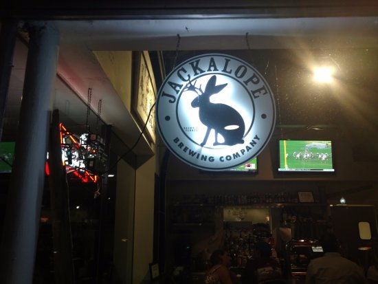 Puckett's Boat House: JACKALOPE BREWING SIGN