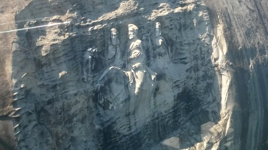 Stone Mountain Carving: Closeup