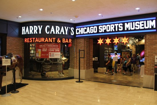 Harry Caray's 7th Inning Stretch Water Tower: Outside entrance on the 7th floor of the Water Tower.