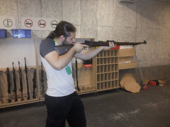 Celeritas Shooting Club: They have some WW2 weapons which will make you feel like holding a piece of history.