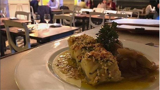 Frei Contente: codfish with almond