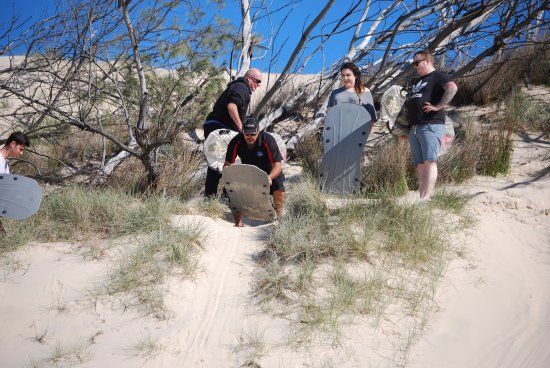 Gold Coast Island Buggy Tours: sandboarding time
